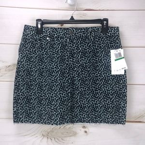 T. D. C. Contemporary Women's Leopard Mini Skirt